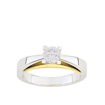 BAGUE BICOLORE DIAMANT -