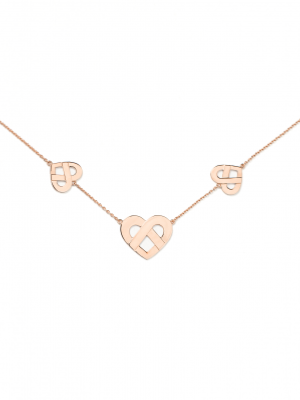 Collier Coeur entrelacé multi POIRAY