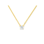 Collier Solitaire Or Jaune et Diamant 0,50 ct