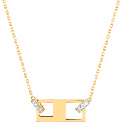 Collier Or Jaune Bicolore et Diamants